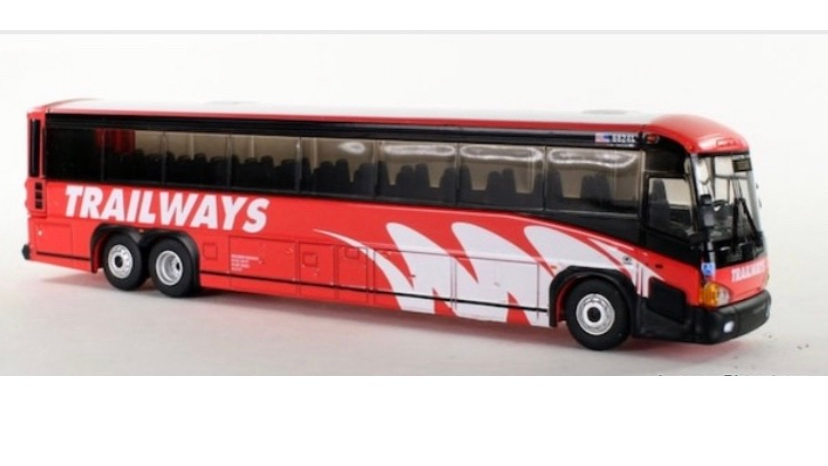 12-2-1-0150 / 1:87 MCI D4505 Trailways motor coach