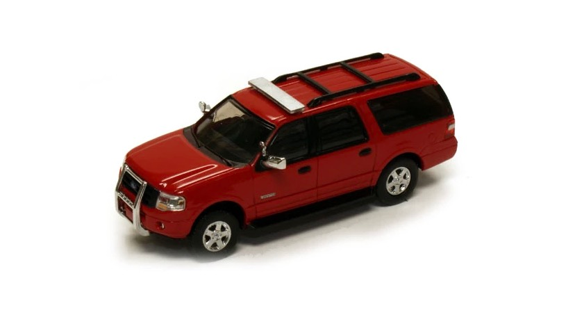 1:87 HO Scale 2007 Ford Expedition generic fire dept w/light bar