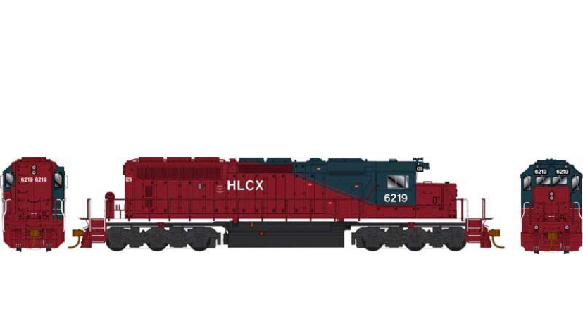 25067 / SD40-2 HLCX #6219 ex QNSL DCC w/Sound Helm Leasing HO Scale
