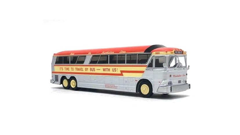 87-0188 / 1:87 HO Scale MCI MC-7 Challenger Manhattan Lines