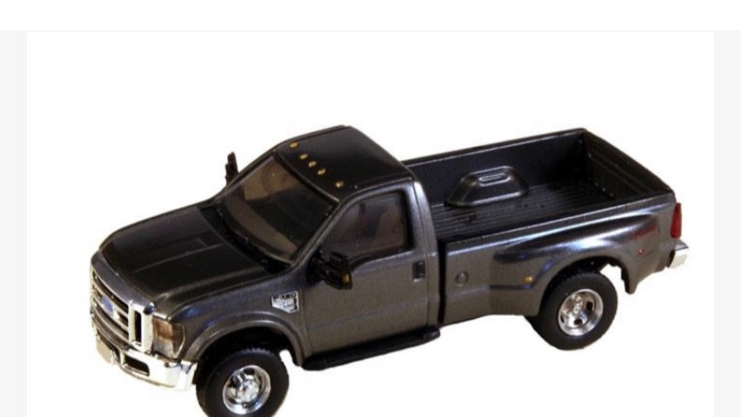 1:87 HO Scale 2008 Ford F-350 Super Duty DRW Dually Grey / River Point Station
