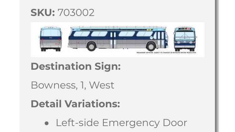 703002 / 1:87 HO GMC fishbowl bus - Calgary Transit - STANDARD