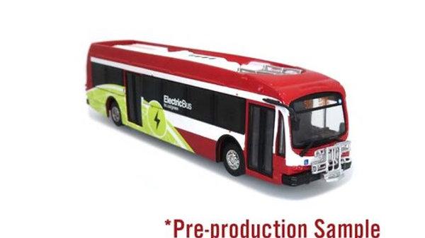 87-0304 / 1:87 HO scale Proterra TTC Toronto Transit bus Iconic Replicas
