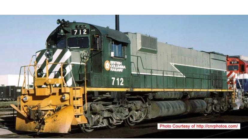 24865 / M630 BCR #712 British Columbia Railway DCC w/Sound HO Scale