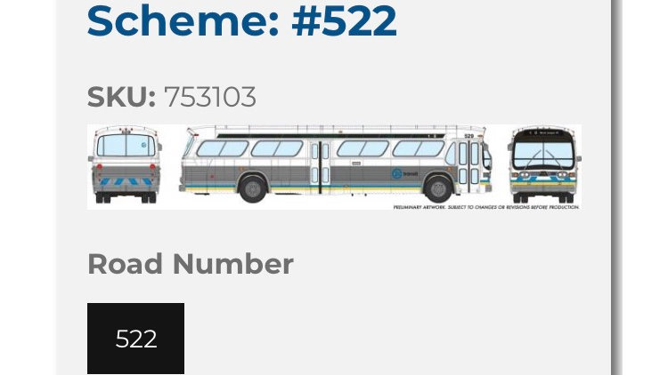 753103 / 1:87 HO scale Edmonton Transit Service fishbowl bus - Deluxe