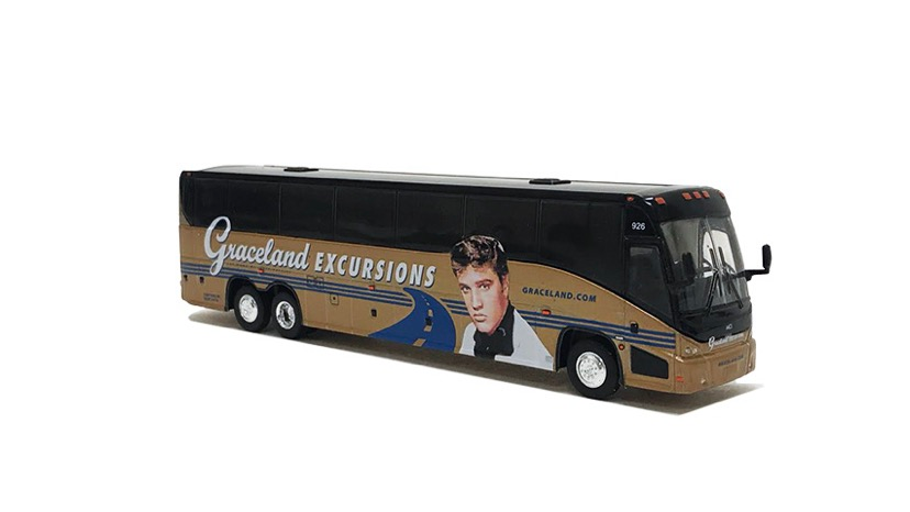 "87-0201 / 1:87 Graceland Excursions ""The Elvis bus"" MCI J4500 motor coach"