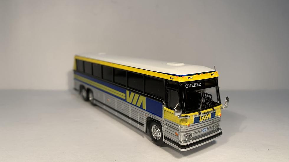 """87-0230 / 1:87 1984 MCI MC-9 VIA Rail """"QUEBEC"""" custom destination"""