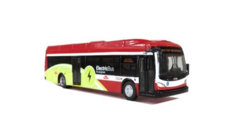 87-0166 / 1:87 New Flyer Toronto (TTC) Xcelsior XE40 Electric transit bus 1:87