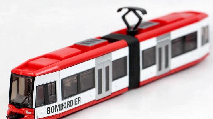 1895 / 1:87 HO (supposedly) SIKU Articulated Street tram: Bombardier by Siku