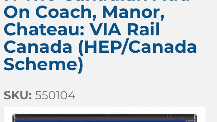 550104 / N scale Canadian 3 pack add on (VIA HEP)