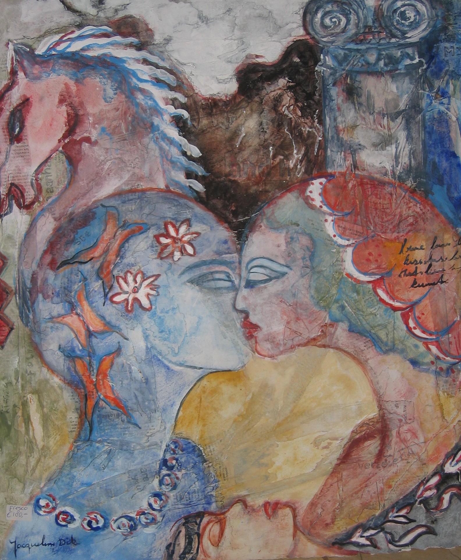 Fresco Griekse Liefde