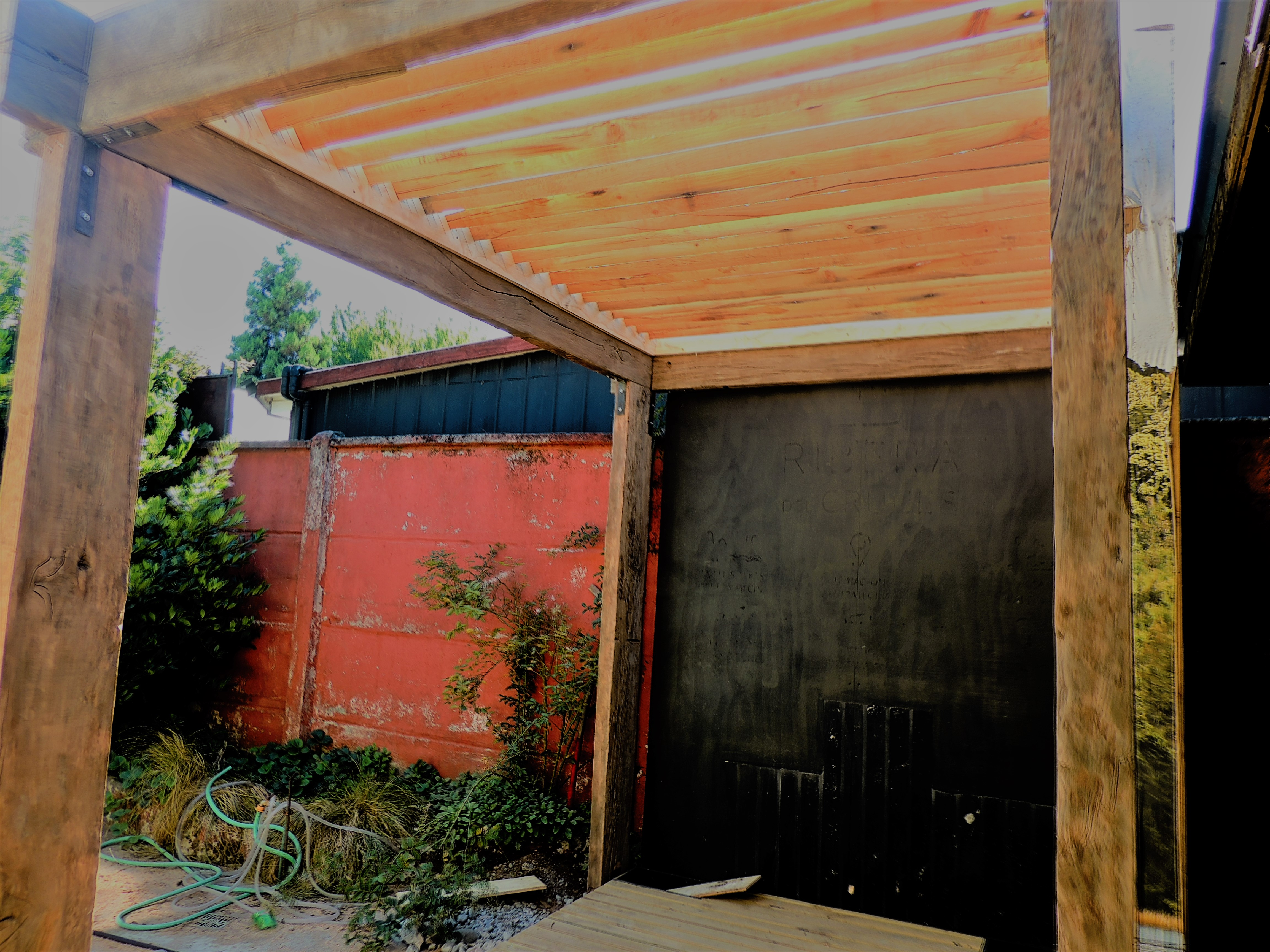 pergola madera jardin paisajismo