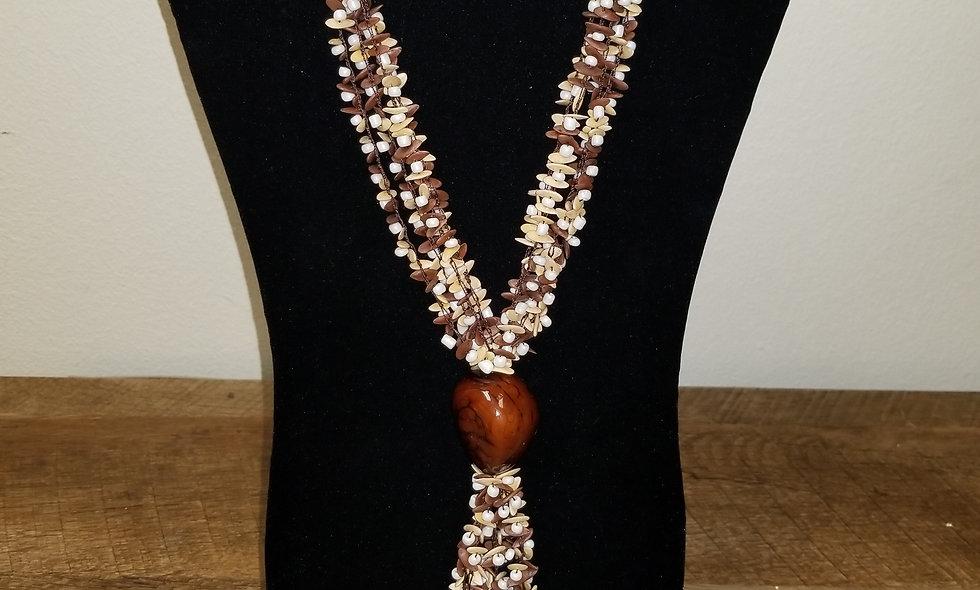 Hand made collar mellon seeds and tagua