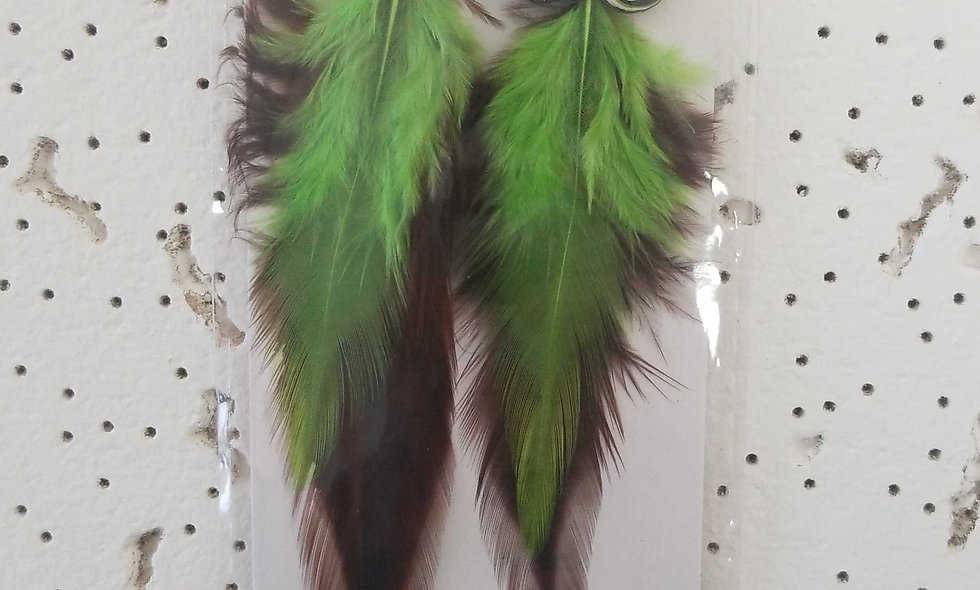 green feather owl