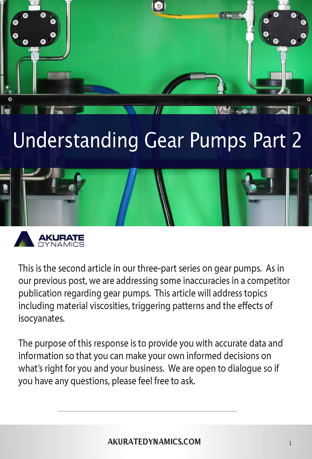 Akurate Dynamics Gear Pumps