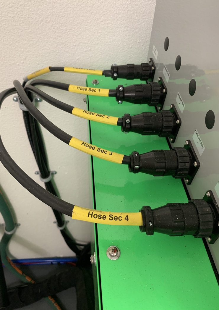 Close up of Hose Connection