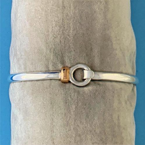 BSGK 010 Silver & 18K Gold Bangle