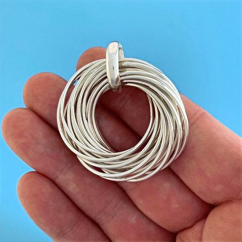 N-AK Silver Necklace