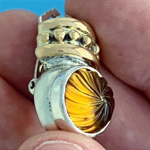 EGK 100 Silver, 18K Gold & Citrine Earrings