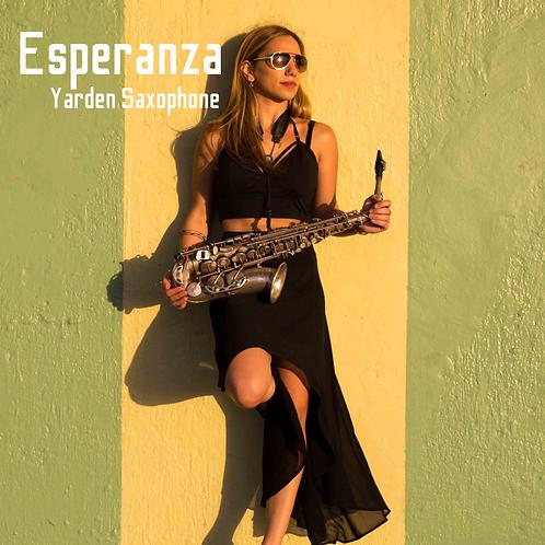 Esperanza backing track without saxophone