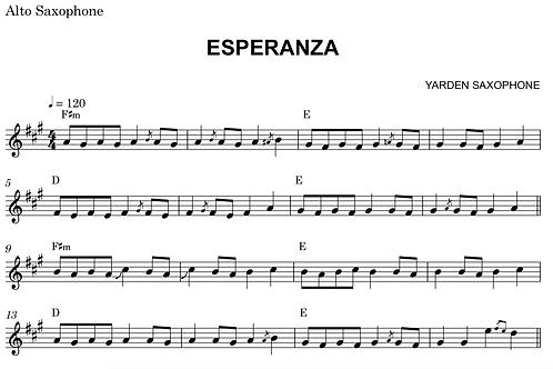 Esperanza Sheet Music - Eb (Alto sax, Baritone Sax)