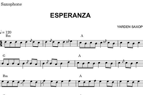 Esperanza Sheet Music - Bb (Tenor sax, Soprano Sax, Trumpet)