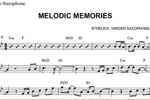 Melodic Memories Sheet Music Eb Alto / Baritone Sax