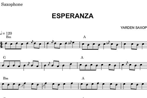 Esperanza Sheet Music - Concert pitch (For Flute, Piano, violin)