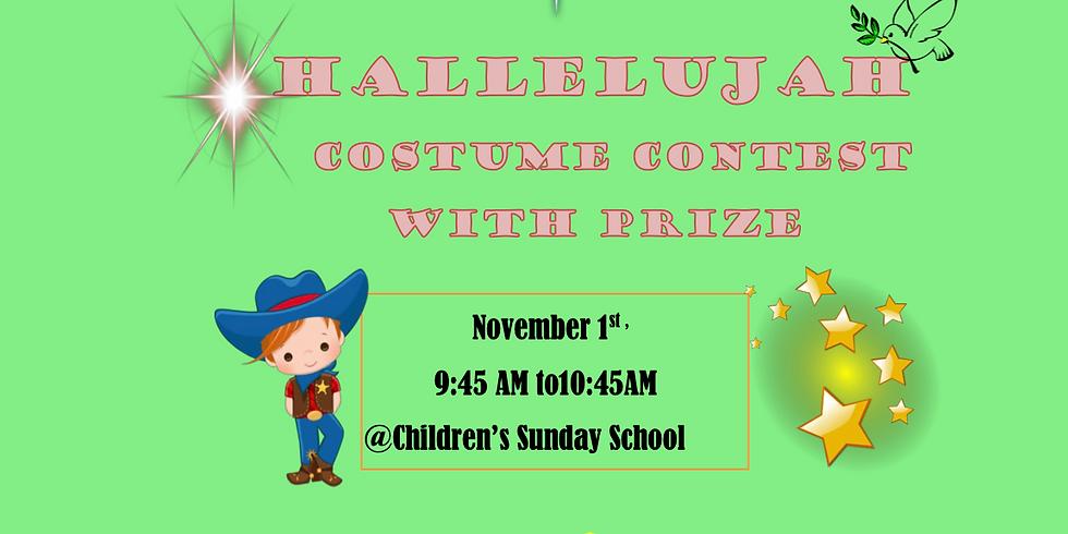 Hallelujah Costume Contest