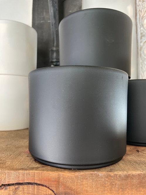 "Black Pillar Pot 4"""