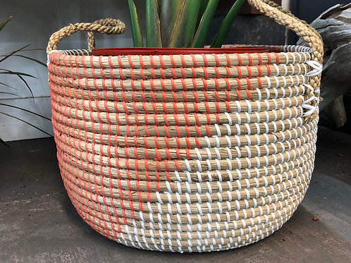 Peach/ Natural Basket 10""