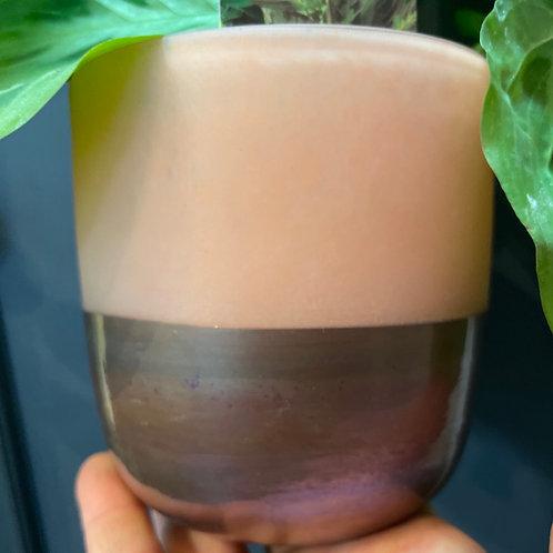 Glass Pink/Plum Pot