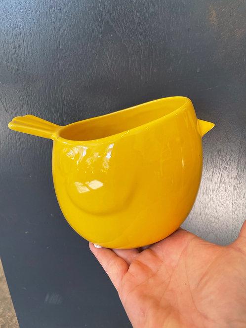 """Bird Pot Yellow 6"""""""