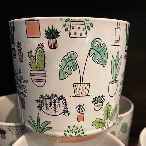 "Cartoon Plants Pot 4"""