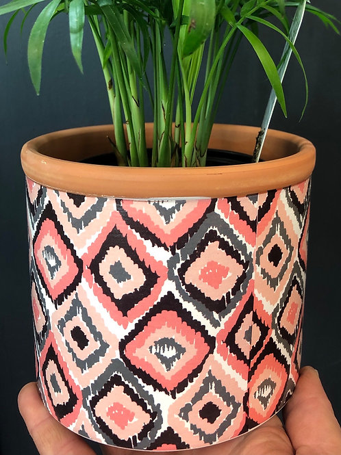 "Terracotta with Pattern 5"" pot"