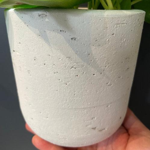 "White Textured Pot 4"""