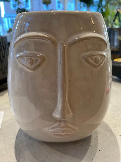 """Long Face Pot 3.5"""" opening, 8"""" H"""