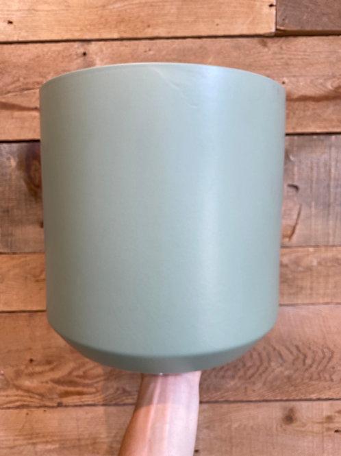 """Sage Green Pillar Pot 12"""""""