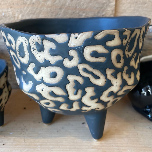 """Animal Print Pot (4"""" potted plant fits well)"""