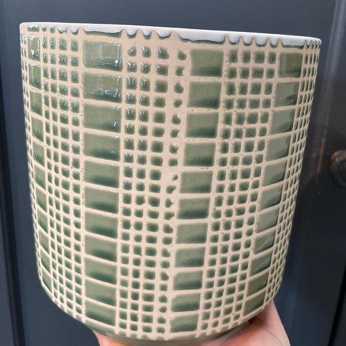 """Pattern Pot Antique Mint 6"""""""