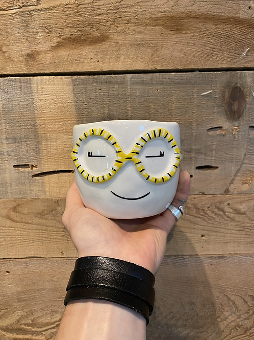 "Cheeky Glasses Pot 4"""