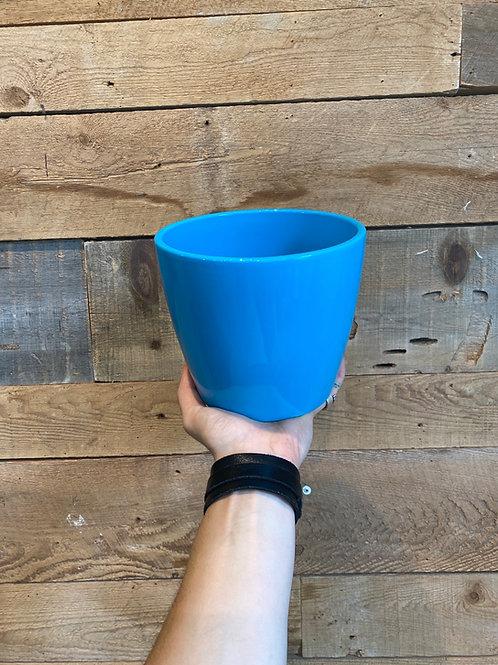 "Turquoise  Blue 6"" Pot"