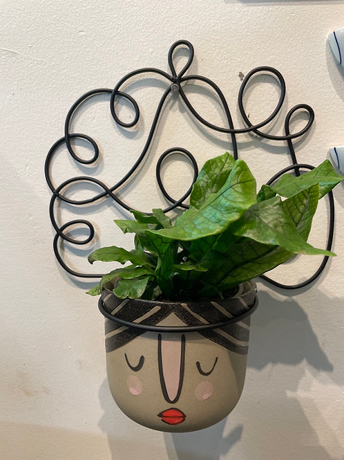 """Wall Planter with Face Pot ( fits 4"""" Pot)"""