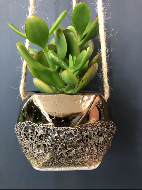"Copper Pottery 3"" Hanging Pot"