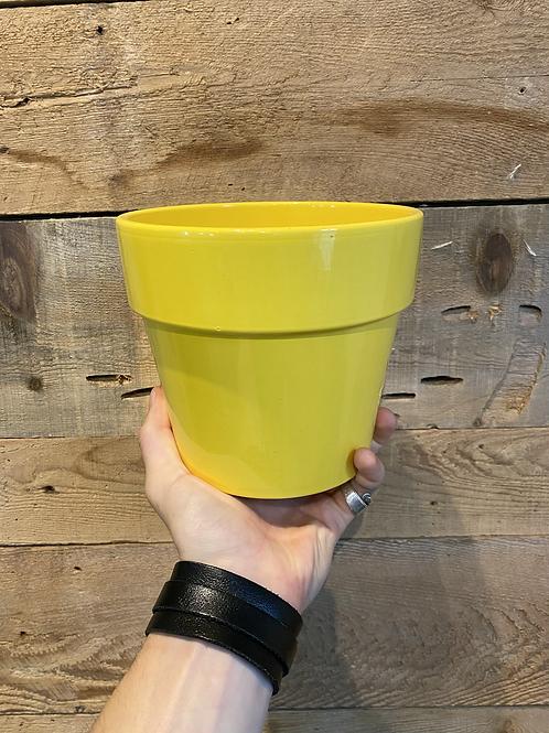 "Yellow Pot w/ Rim 6"""