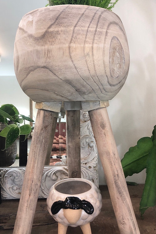 """Wooden Stand ( 6"""" pot/ stands 12"""")"""
