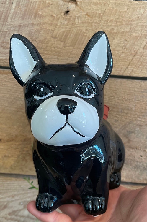 """French Bulldog Pot ( fits 3"""" pot at back)"""