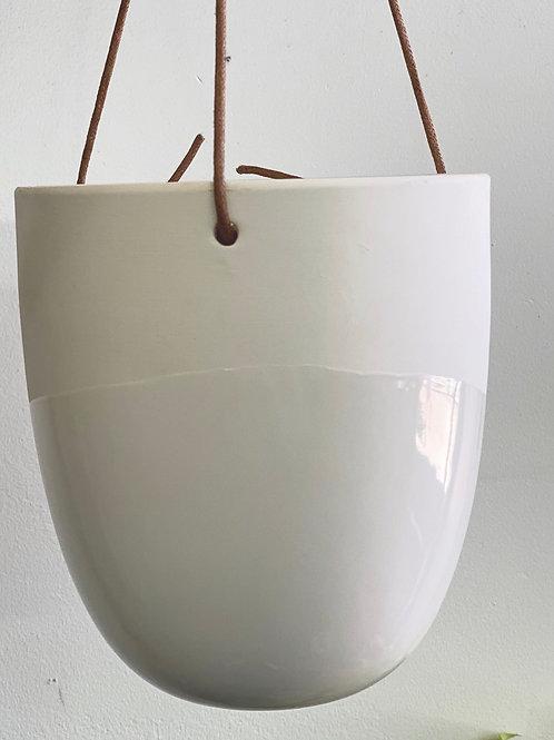 """White Matte/Glosse Hanging Pot 5"""""""