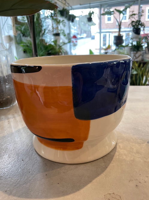 """Cubes and Lines Pot 6"""""""