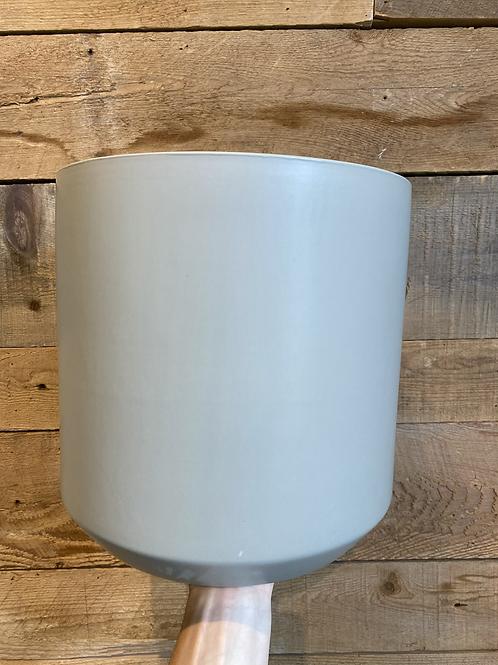 """Ash Grey Pillar Pot 12"""""""